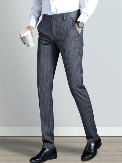 Business Soft Breathable Stripe Slim Fit Pants