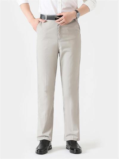 Comfy HIgh Waist Straight Cotton Lightweight Pants