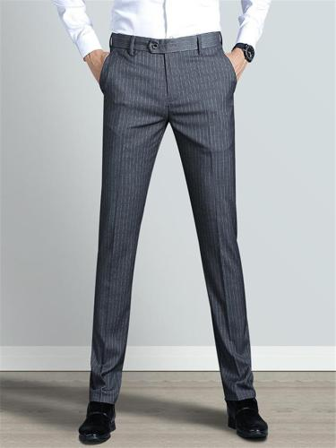 Business Soft Breathable Stripe Slim Fit Pants