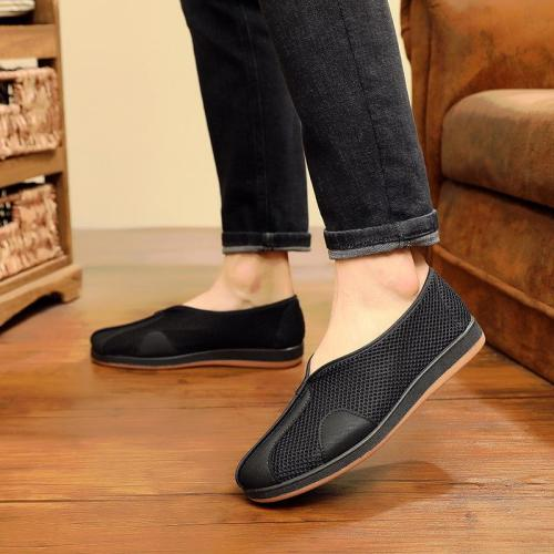 Non Slip Breathable Pure Color Hollow Out Loafers