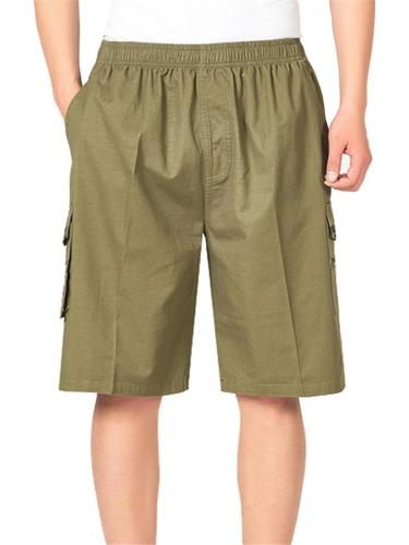 Comfy Plain Casual Loose Knee Shorts For Men