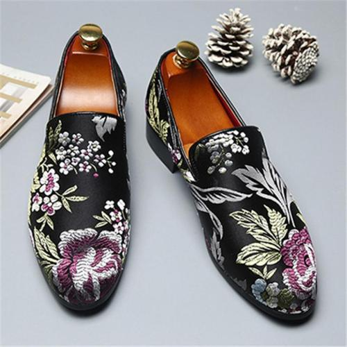 Vintage Emboridered Soft Non Slip Loafers