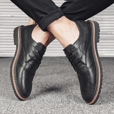 Comfy Breathable Stitching Casual Leather Shoes