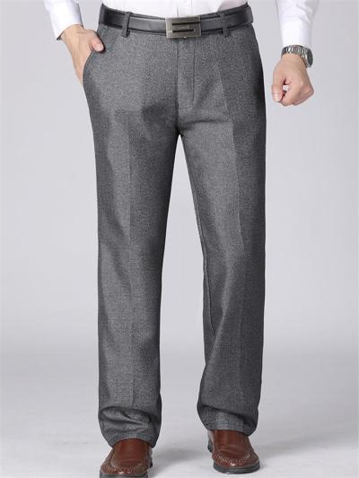 Elastane Soft Warm Lining Pure Color Pants