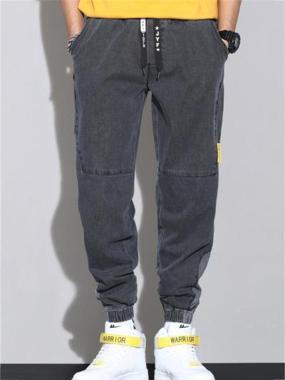 Loose Breathable Fashion Cargo Denim Ankle Cropped Trousers