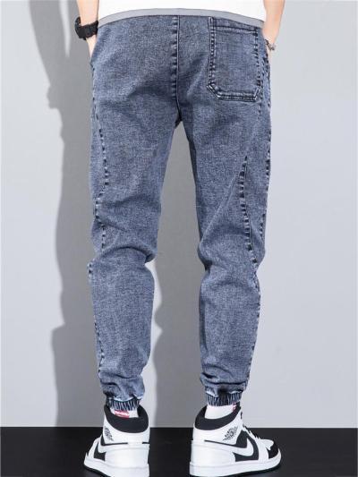 Breathable Wearable Plain Denim Ankle Pants