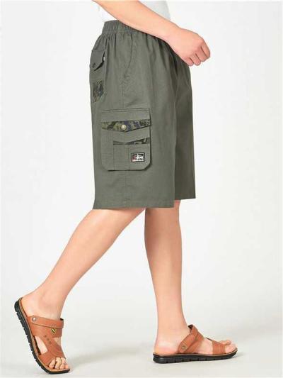 Comfy Plain Casual Loose Knee Shorts For Men