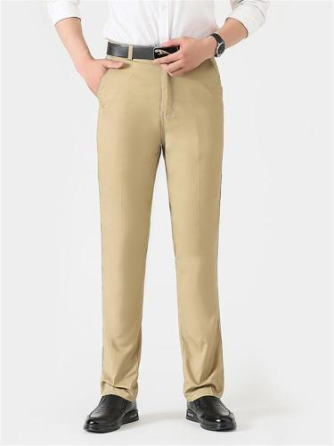 Comfy HIgh Waist Straight Cotton Lightweight Pants