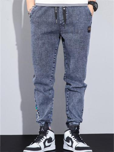 Breathable Wearable Plain Denim Ankle Pants