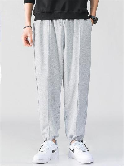 Elastane Breathable Plain Loose Fit Pants