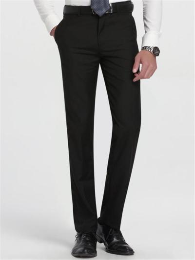 Business Straight Slim Fit Pure Color Casual Suit Pants