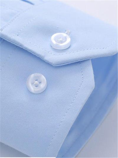 Business Loose Pure Color Breathable Long Sleeve Shirts