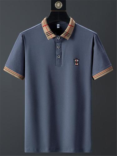 Business Breathable Stripe Knit Fashion POLO Short Sleeve Shirts