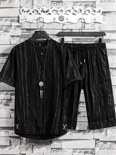 Fashion Comfy Knitted Short Sleeved T-Shirts+Pants/Shorts