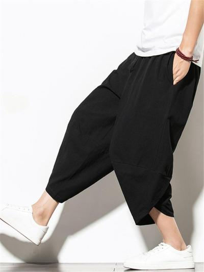 Casual Loose Cotton&Linen Cropped Pants