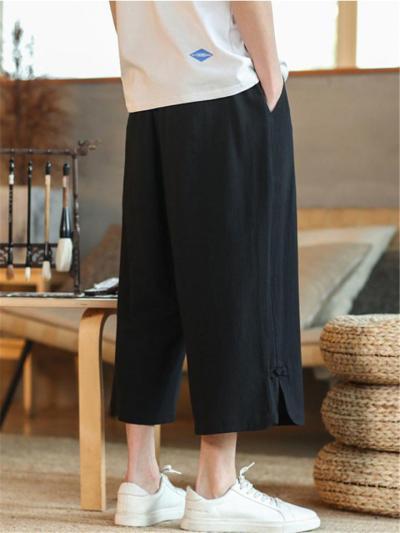 Casual Hip Hop Knit Linen Workout Harem Pants
