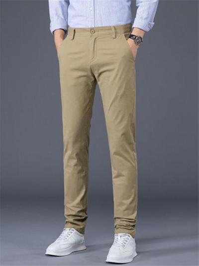 Elastane Slim Fit Comfy Classic Lightweight Business Pants