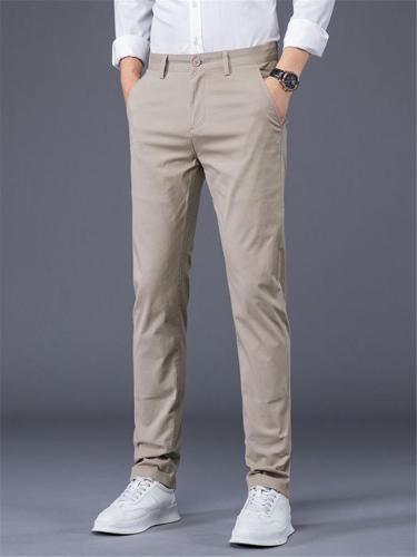 Elastane Slim Fit Comfy Classic Lightweight Business Pants
