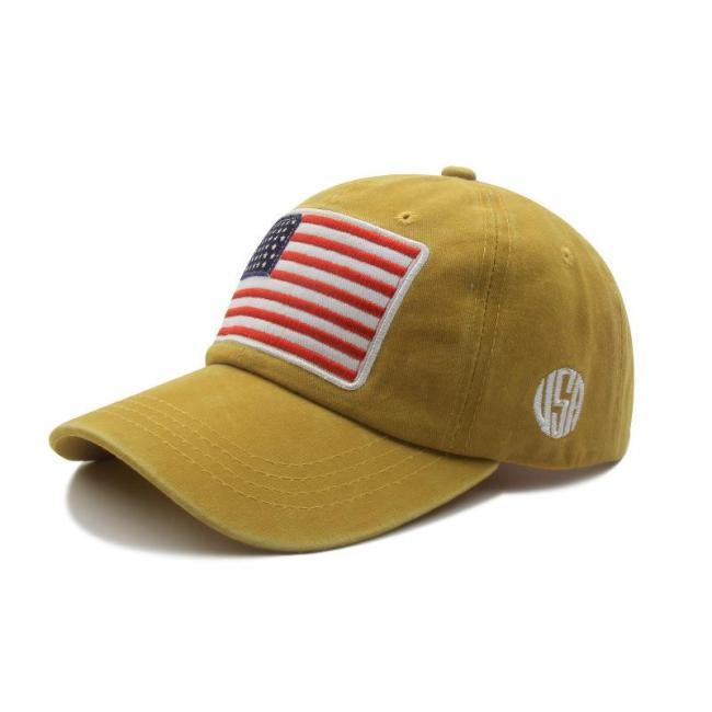 Outdoor USA American Flag Sun Hats Baseball Denim Hats