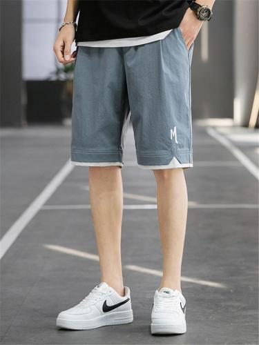 Casual Sports Loose Knee Shorts With Pockets