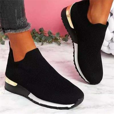 Slip-On Style Breathable Mesh-Paneled Ridged Rubber Sole Fabric Upper Loafers