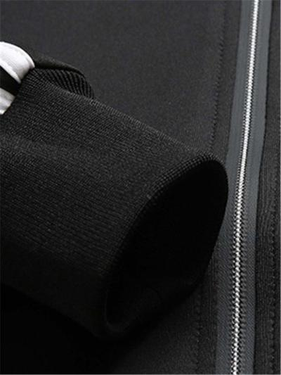 Mens Sports Breathable Soft Stripe Outerwears+Pants