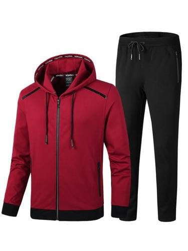 Plus Sized Comfy Pure Color Fashion Sports Outerwears+Pants