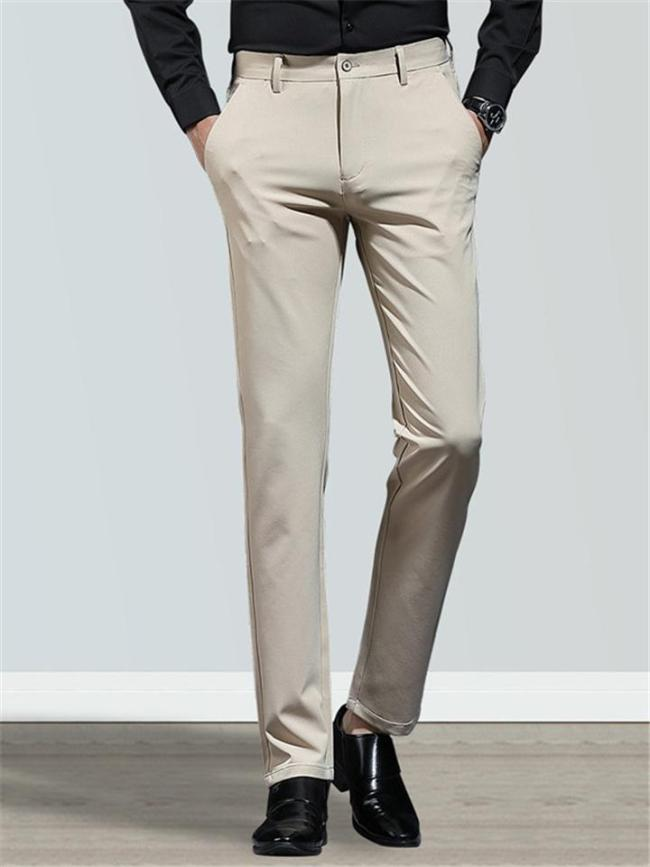 Business Slim Fit Straight Breathable Casual Pants