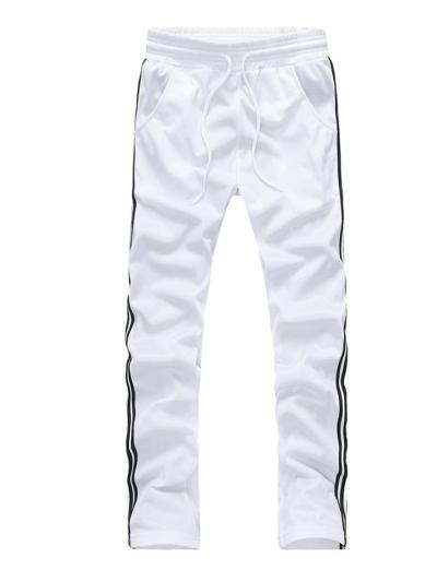 Mens Casual Slim Fit Pure Color Workout Outerwears+Pants