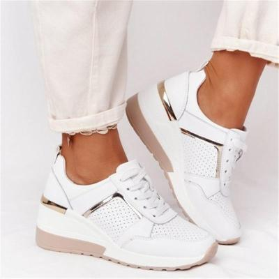 Casual Wearable Lightweight Mesh Canvas Lace Up Shoes
