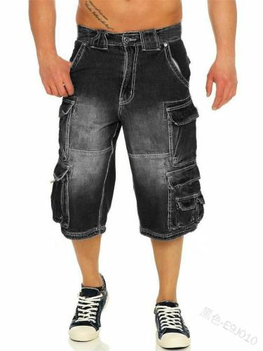Men's Fashion Casual Loose Knee Denim Trousers