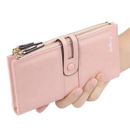 Womens Blocking Large Capacity Luxury Clutch Wallet Clutch Wallet Multi Card Organizer