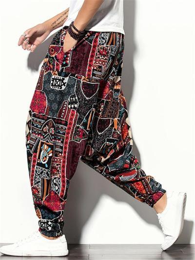 Classic Fashion Baggy Print Harem Pants