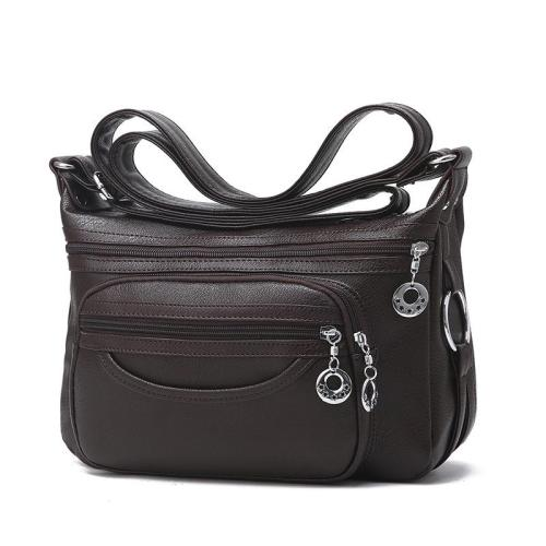 Casual Plain Handle Bag  Roomy Multiple Pockets Bag Ladies Crossbody Purse