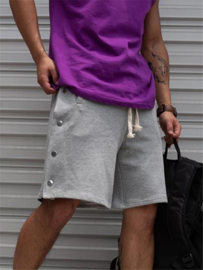Sports Pure Color Buttons Comfy Shorts