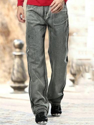 Mens Fashion Vintage Casual Comfy Loose Denim Trousers