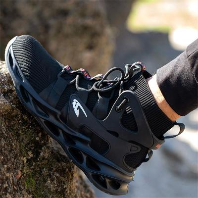 High Top Breathable Anti-Smashing Work Shoes For Men