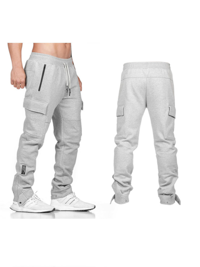 Fashion Casual Sport Loose Solid Pencil Pants