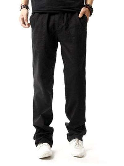 Fashionable Casual Loose Straight Leg Linen Pants