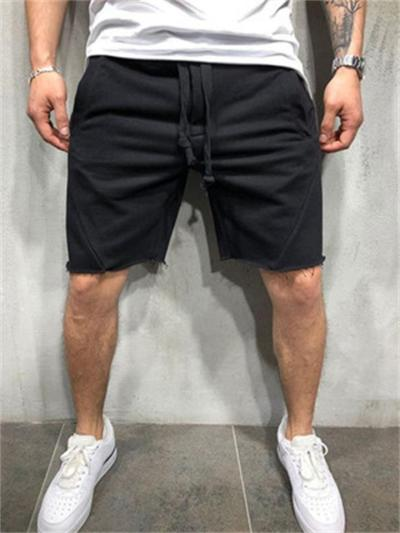 Fitness Running Solid Color Casual Sports Shorts