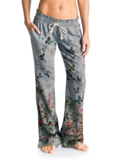 Fashion Floral Casual Wide-Leg Pants