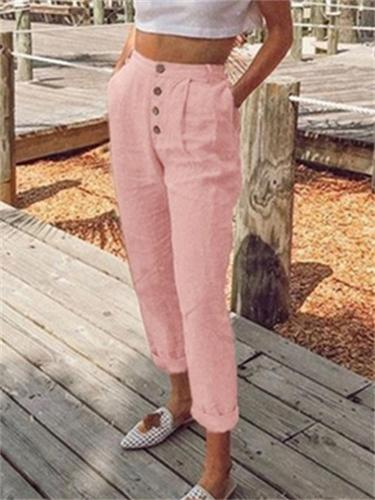 On-Trendy Basic Casual Cotton Trousers
