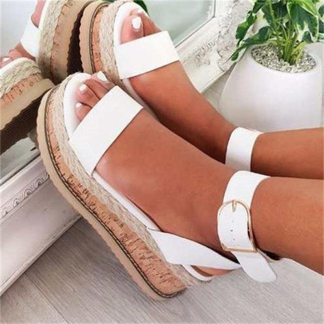 Fashion Casual Flat Heel Hasp Sandals