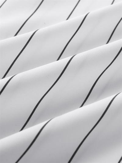 New Arrival Short Sleeved Striped Print Shirt