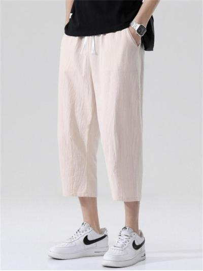 New Arrival Casual Strap Loose Linen Pants
