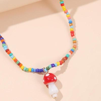 Simple Style Lovely Mushroom Shape Necklace