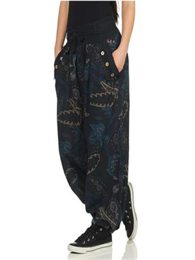 New Arrival Digital Print Urban Casual Style Pants