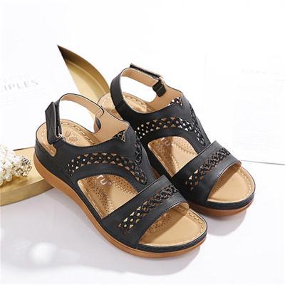 Retro Comfortable Wedge Heel Casual Sandals