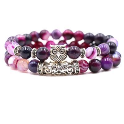 Unisex Fashion Owl Shaped Stone Bracelet