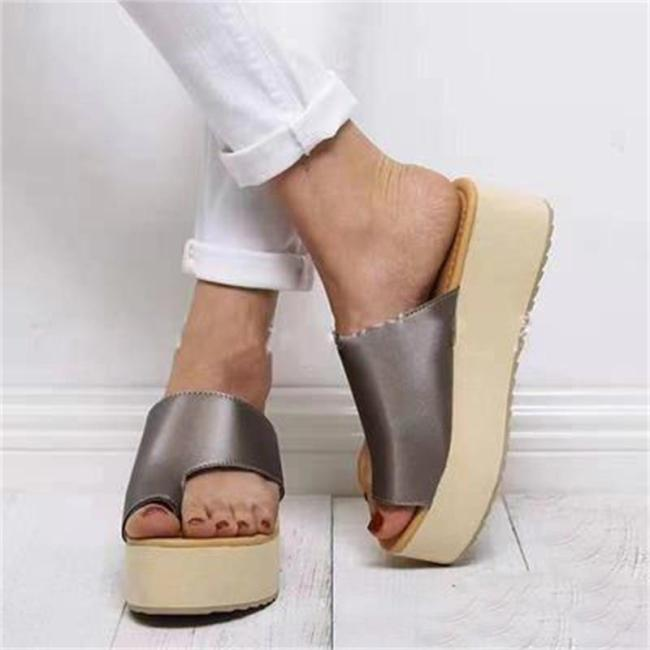 Oversized Casual Light Weight Wedge Heel Slippers